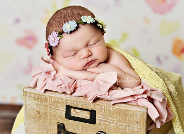 Pastel Newborn Baby Floral Crown Girls Flower Crown Hair Wreath